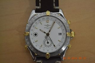Breitling Duograph Double Date 2tone Day & Night Gmt Ref.  B15507 Bild