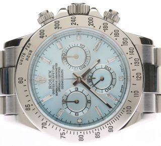 Rolex Daytona Steel 116520 Ice Blue Brillant Dial D - Serie Year 2006 Bild