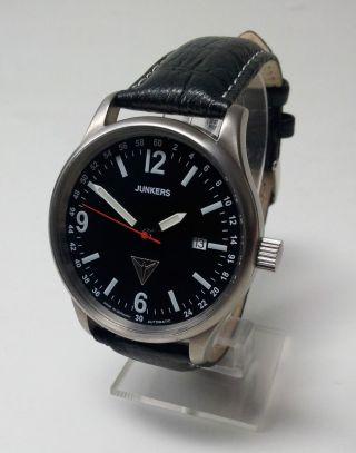 Junkers Automatic Titan 6270 Schweizer Uhrwerk Eta 2 X Glas Revidiert Top Bild