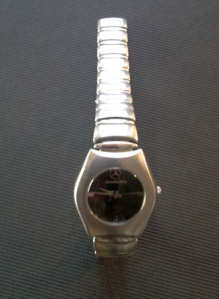 Mercedes Benz Armbanduhr,  Schwarz/silber,  Edelstahl Matt Bild