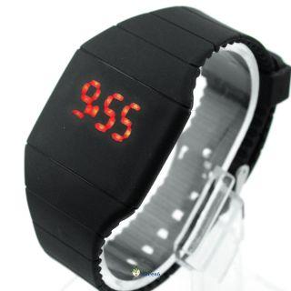 Led Armbanduhren Digital Multifunktion Entwickeln Plastik Band Reine Farbe Bild