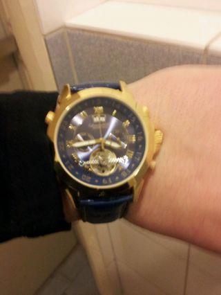 Calvaneo 1583 Astonia Gold Blue Automatik Chronograph Uhr Bild