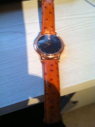 Steiff Armbanduhr Rosegolden Mit Lederarmband Bild