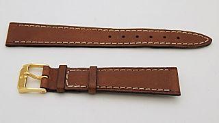 Movado Leder Leder Band Größe 17r Braun Bild