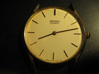 Vintage: Seiko Quarz Armbanduhr Ohne Band Und Stege Bild