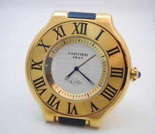 Cartier Tischuhr Wecker JubilÄummodell150 Jahre Cartier Bild