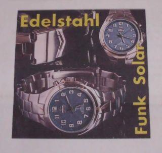 Edelstahl Funkuhr Solar Armbanduhr Bild