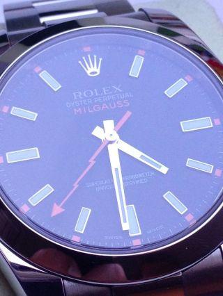 Rolex Milgauss 116400 Lc100 Black Dial Oyster Perpetual, Bild