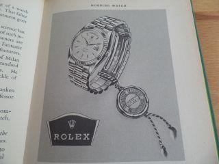 Feines Rolex Buch Von1955,  The Anatomy Of Time Mit Erster Day - Date,  Extrem Gut Bild