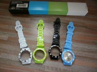 Pearl Armbanduhr Mit 4 Wechselgehäusen Und 4 Wechselarmbändern Bild