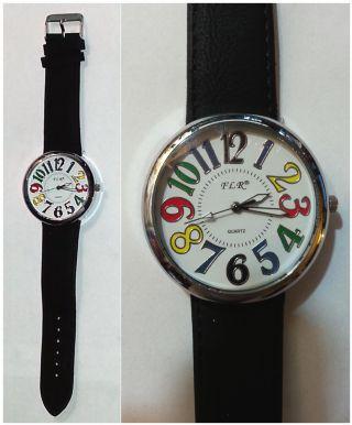 Hübsche Armband - Uhr Mit Bunten Ziffern / Analog - Quarz / Neuwertig U12 Bild