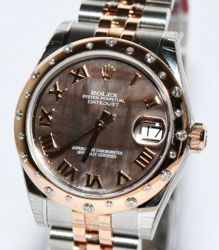Rolex Datejust Stahl Rosegold 178341 Perlmutt Zifferblatt Brillantlünette Bild