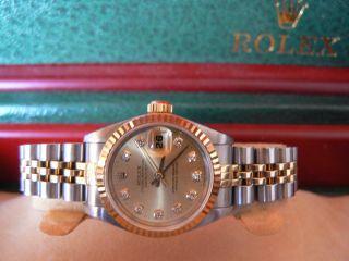 Rolex Lady Datejust Stahl Gold 750 Diamant Zifferblatt Neuwertiger Bild