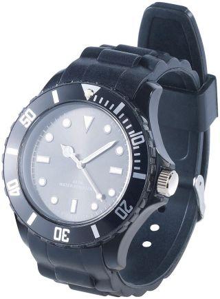 Pearl Silikon Armbanduhr Schwarz Bild