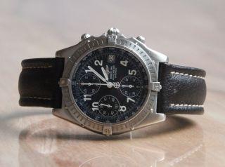 Breitling Blackbird Windrider Chronograph Automatik Flieger A13350 Leder/stahl Bild