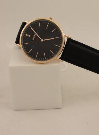 Oozoo Uhr Armbanduhr Lederband Designuhr - C6949 Ø Ca.  35 Mm Schwarz/rose Bild