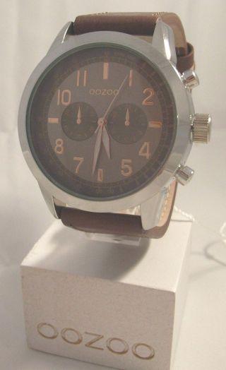 Oozoo Uhr Armbanduhr Designuhr - C6885 - Ø Ca.  44 Mm - Dunkelbraun / Rose Bild
