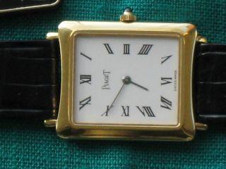 Piaget 18k Gold Armbanduhr Mechanisches Laufwerk Bild