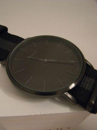 Oozoo Uhr Ultra Slim C6936 Ø Ca.  44 Mm Vintage Schwarz/ Dunel Grau Armbanduhr Bild