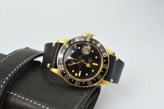 Rolex Gmt Master 18k Gelbgold Referenz 1675/8 Bild