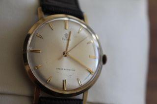 Schicke Tudor Armbanduhr In 585er Gold - Handaufzug Bild
