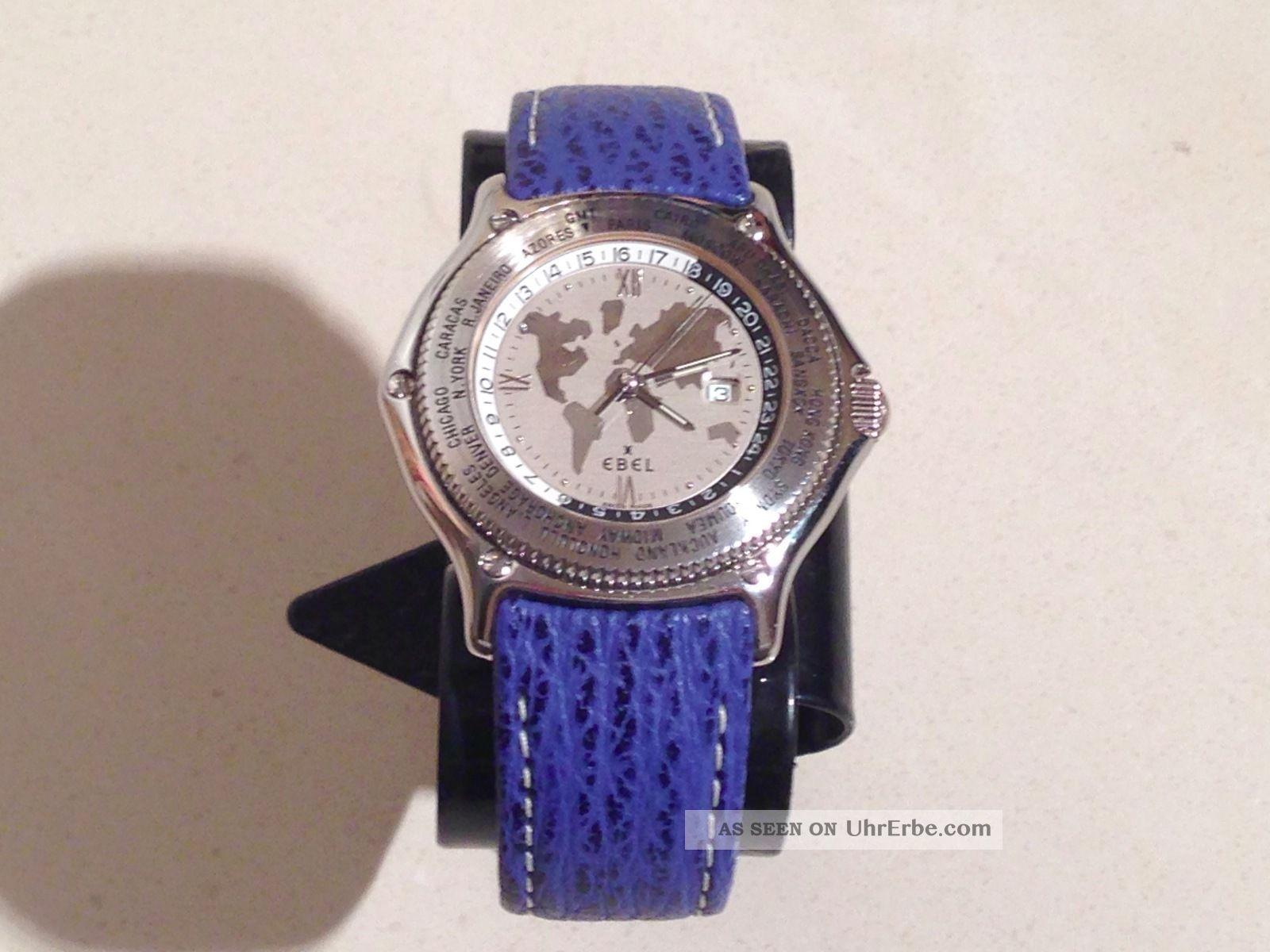 Ebel Voyager Armbanduhr,  Neues Lederband,  Box,  Papiere – Armbanduhren Bild