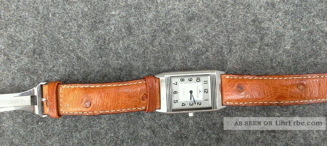Jaeger Le Coultre Reverso,  Straussenlederband, Armbanduhren Bild