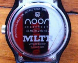 Noon Danish Designer Watch - Limited Numbered Edition For Michael Learns To Rock Bild