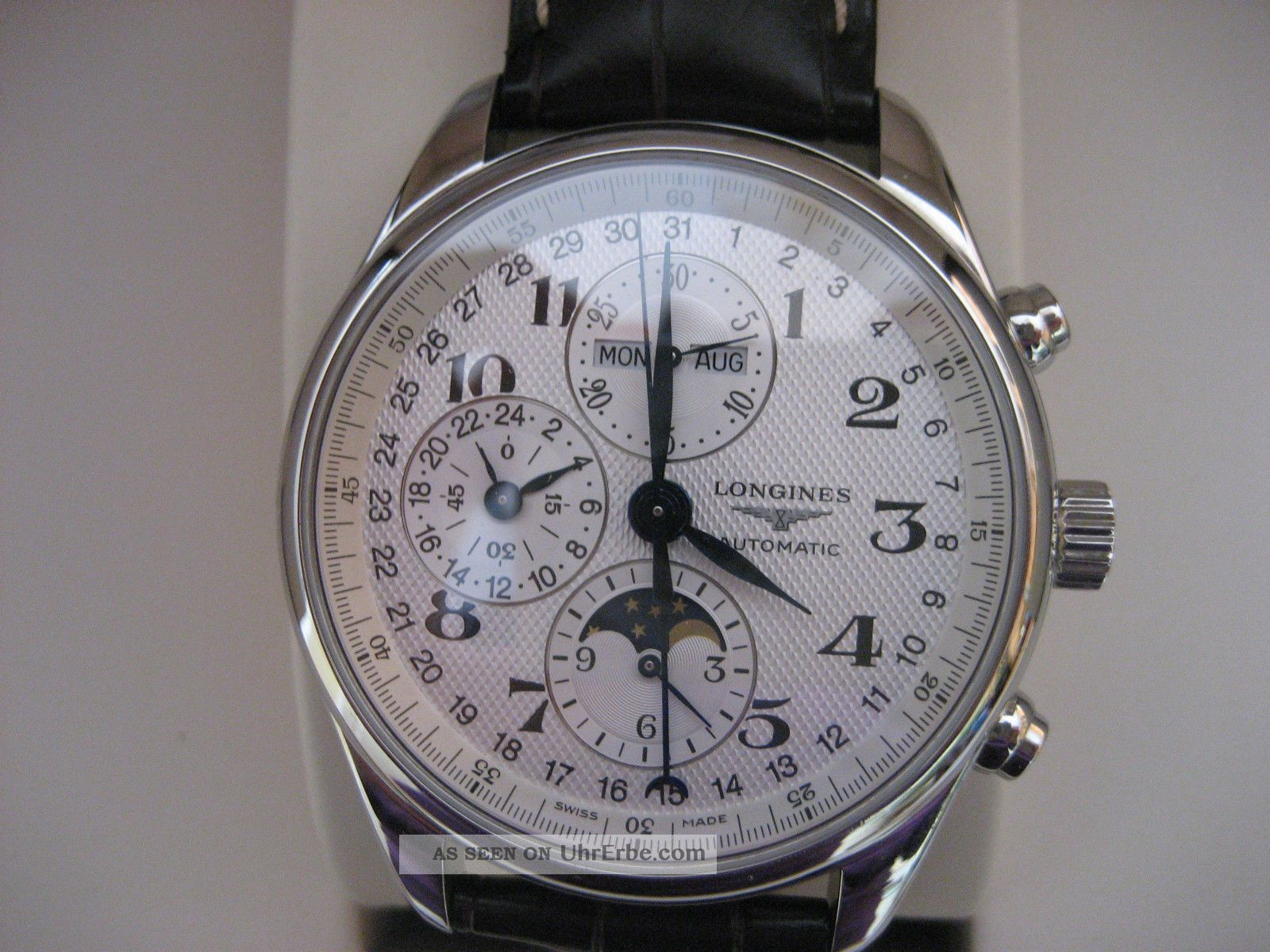 Longines Chronograf,  Heritage,  Superzustand,  Kaufdatum 2012 Armbanduhren Bild