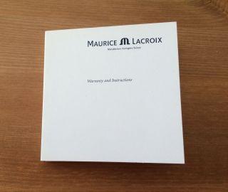 Maurice Lacroix Bedienungsanleitung Für Mechanische Uhr Ml113 Bild