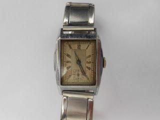 Antike Armbanduhr Aus Den 30/40/50er Jahren Voll Funktionsfähig Bild