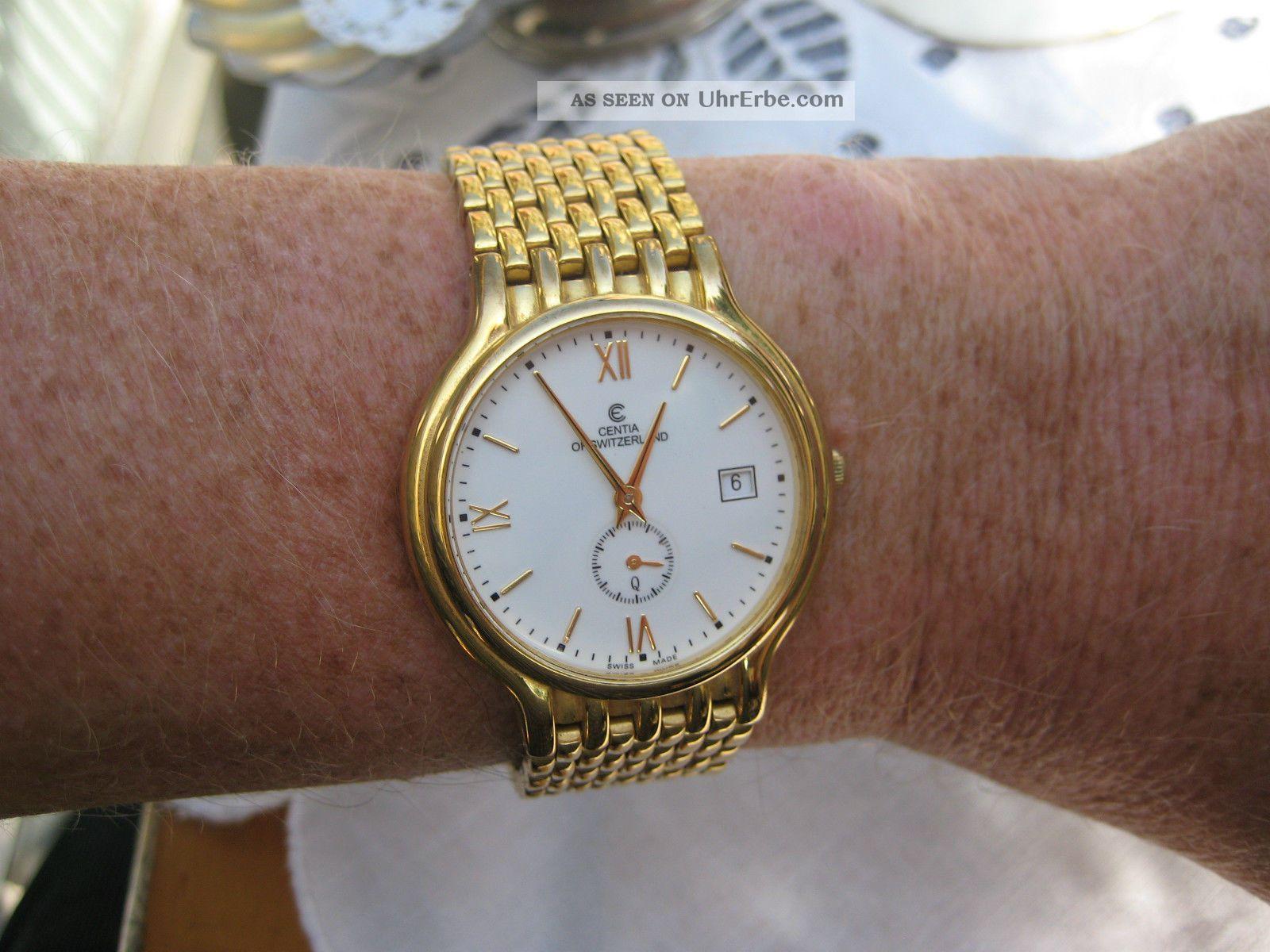 tolle schweizer uhr der edlen marke centia of switzerland watch swiss made gold. Black Bedroom Furniture Sets. Home Design Ideas