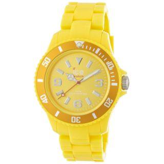 Ice Sdywup12 Unisex Ice - Solid Gelb Zifferblatt Gelb Kunststoff Armband Quarz Uhr Bild
