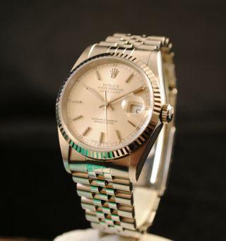 Rolex Date Just Ref.  16234 Mit Weissgoldlünette Box&zertifikat Bild