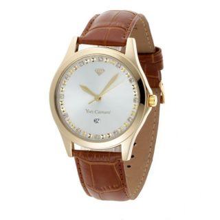 Yves Camani Golden Big Twinkle Silber/braun (yc1028 - C) Armbanduhr Schmuck Gold Bild