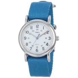 Timex Unisex T2p227 Weekender Indiglo Nachtlicht Weiß DfÜ Nylon - Bügel - Uhr Bild