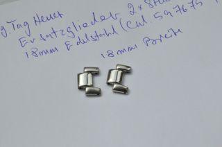Tag Heuer 2x Ersatz Glieder17 - 18mm.  Kirium / Bb0807/816.  Edelstahl Bild