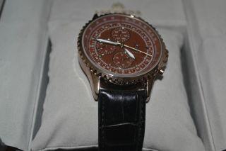 Armbanduhr Königswerk Braunes Ziffernblatt Bild