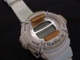 Casio Armbanduhr Baby - G Bg - 320 Weis Mit Stoff/ Textilarmband Bild