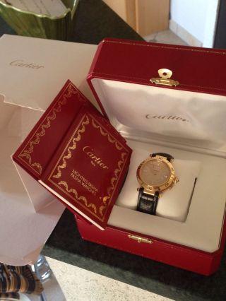 Cartier Pasha Gr.  38,  5mm18kg Modell Mit18k Gold Zifferblatt Und 8 Diamanten Bild