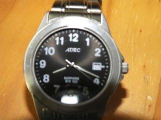 Armbanduhr Citizen Adec Wr 100 Mit Tag / Datum - Mit Edelstahl Gliederband Bild