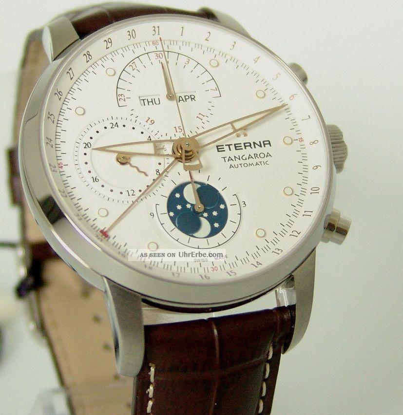 Eterna Tangaroa Automatik,  Mondphase,  Box,  Papiere,  Ref: 294941671260,  4200€ Armbanduhren Bild