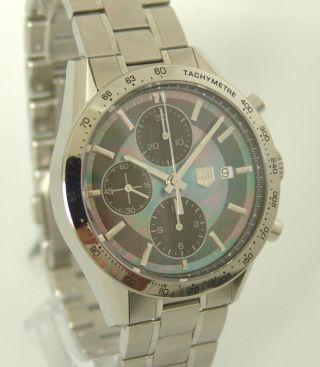 Tag Heuer Carrera Chronograph Box,  Papiere,  Ref: Cv201p.  Ba0794,  Ungetragen Bild