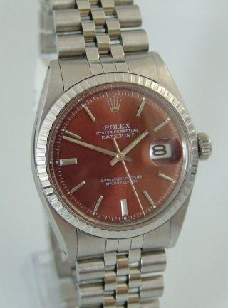 Rolex Oyster Perpetual Datejust,  Ref: 1603,  Jubileeband,  Braunes Zb,  Baujahr 1974 Bild