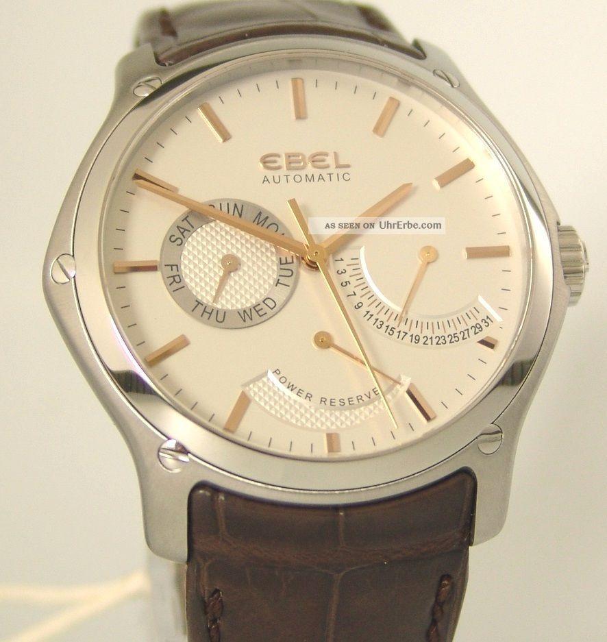 Ebel Classic Hexagon Power Reserve,  Box,  Papiere,  Automatik Ref:1215833, Armbanduhren Bild