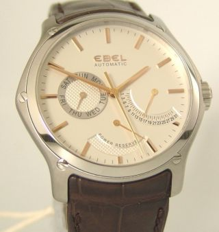 Ebel Classic Hexagon Power Reserve,  Box,  Papiere,  Automatik Ref:1215833, Bild