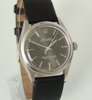 Rolex Oyster Perpetual,  Automatik,  Ref: 1005,  Baujahr 1981,  Lederband, Bild