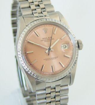 Rolex Oyster Perpetual Datejust,  Ref: 1603,  Gefalt.  Jubileeband,  Baujahr 1967 Lachs Bild