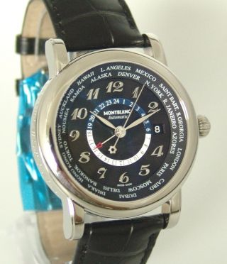 Montblanc Star World - Time Gmt Autom.  Ref: 109285 Box,  Papiere,  Ungetragen,  3890€ Bild