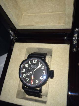 Zenith Uhr Pilot Special Montre D`aeronef Black Limited Edition Eine Von 500 Bild